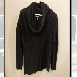 Vince Camuto Black Cowl Neck Tunic Sweater